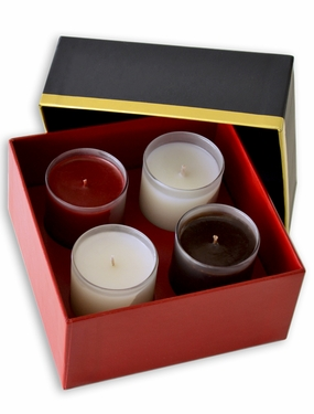 set of four candles